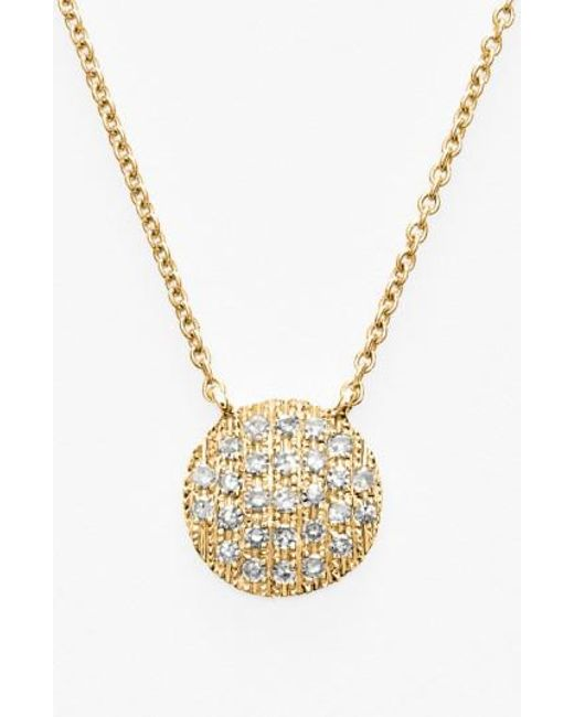 Dana Rebecca - Yellow 'lauren Joy' Diamond Disc Pendant Necklace - Lyst