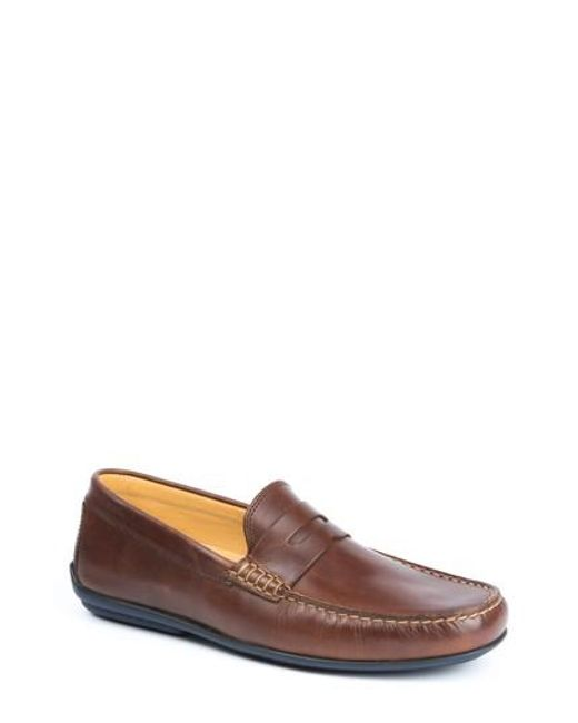 Austen Heller | Brown 'Clinton' Leather Penny Loafer for Men | Lyst