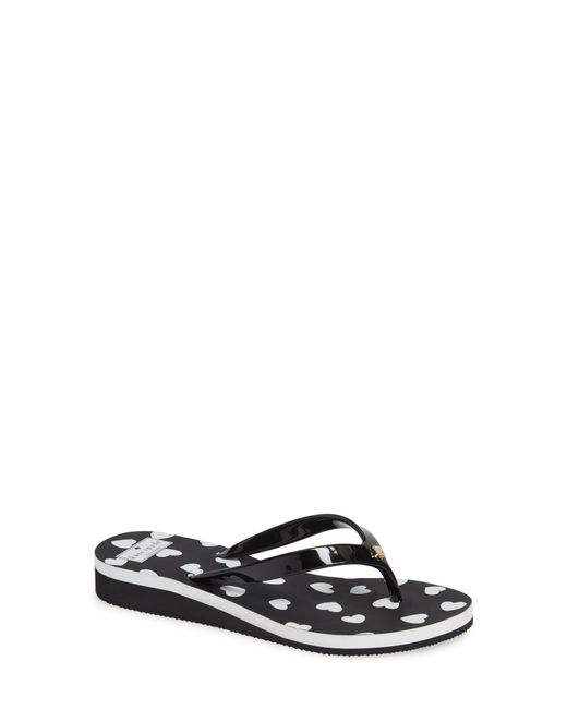 0caba7893 Lyst - Kate Spade Milli Wedge Flip-flop in Black