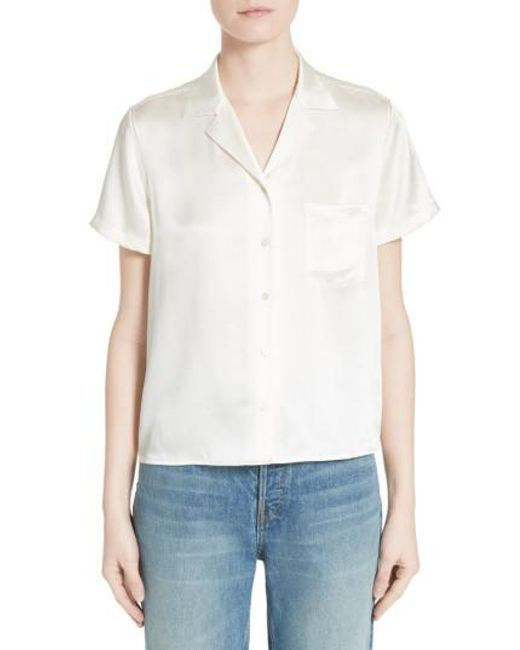 T By Alexander Wang | White Silk Shirt | Lyst