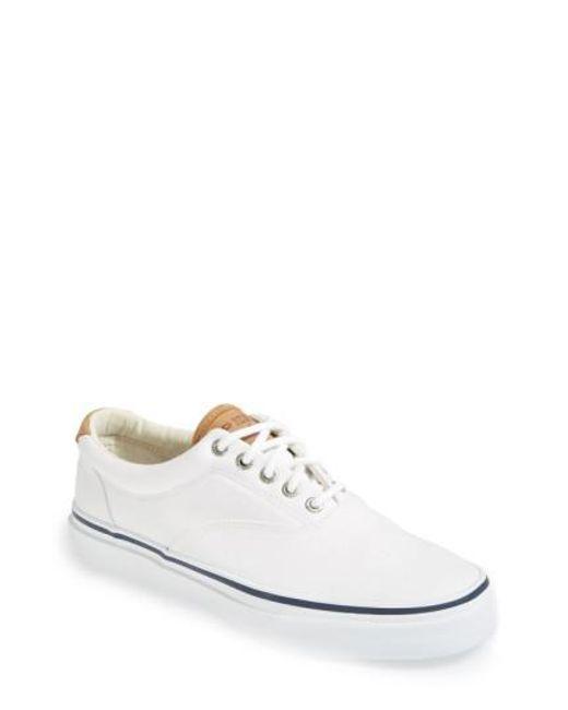 Sperry Top-Sider | White Striper CVO Sneakers for Men | Lyst