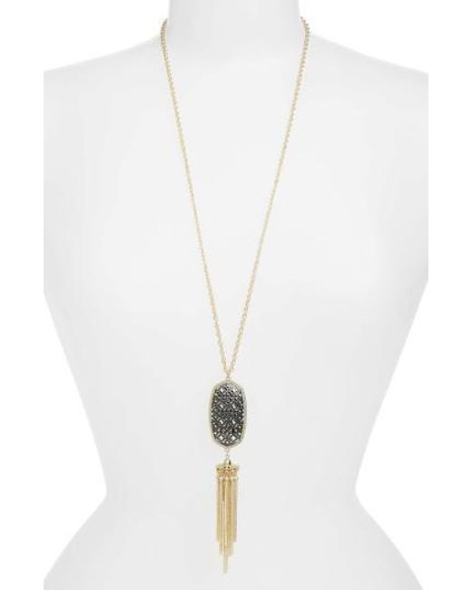 Kendra Scott | Metallic Rayne Openwork Tassel Pendant Necklace | Lyst