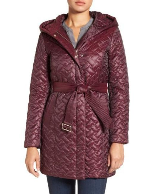 Cole Haan | Purple 'thermore' Water Repellent Quilted Coat | Lyst