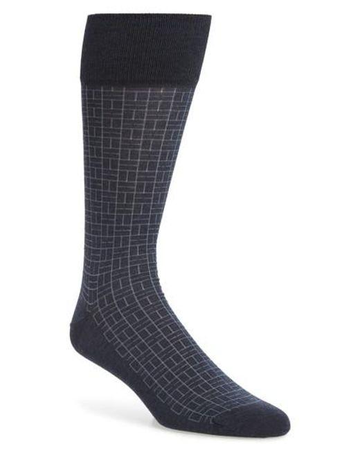John W. Nordstrom - Blue John W. Nordstrom Domino Socks for Men - Lyst