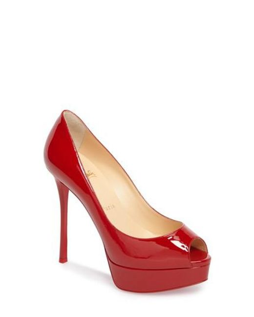 Christian Louboutin Women's Fetish Peep Toe Platform Pump