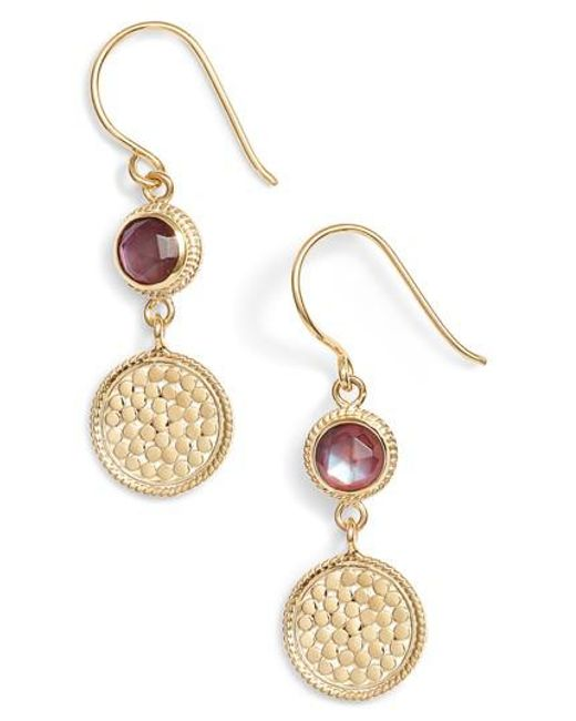 Anna Beck | Metallic Semiprecious Stone Double Drop Earrings | Lyst