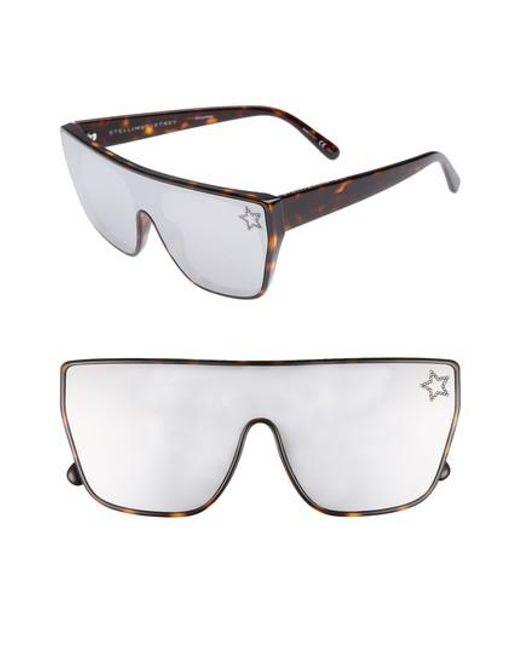 Stella McCartney - Gray 99mm Flat Top Sunglasses - Avana - Lyst