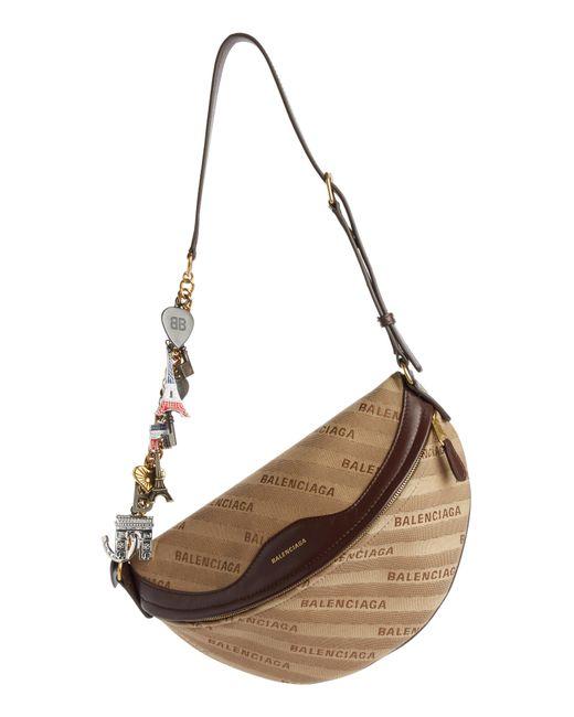 Balenciaga - Natural Extra Small Souvenir Logo Belt Bag - Lyst