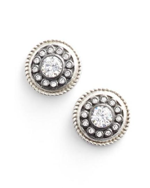 Freida Rothman - Metallic 'nautical Button' Stud Earrings - Lyst