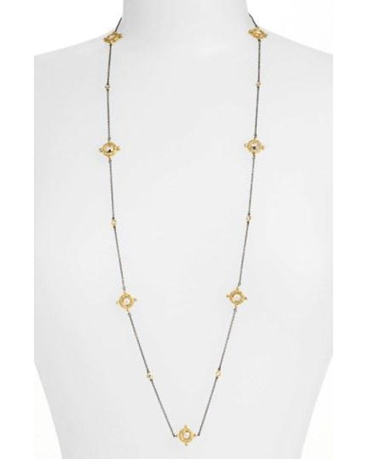 Freida Rothman - Metallic Long Station Necklace - Lyst