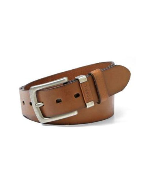 Fossil | Brown 'jay' Leather Belt for Men | Lyst