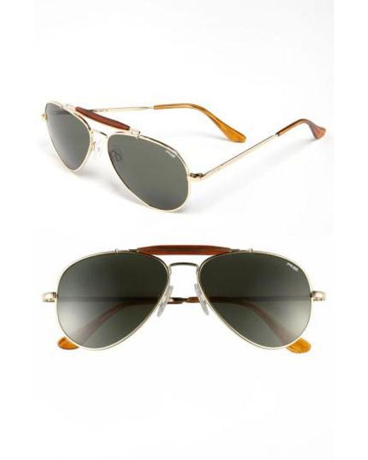 Randolph Engineering | Metallic 'sportsman' 57mm Sunglasses for Men | Lyst