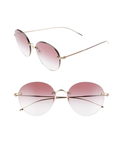 Oliver Peoples Multicolor Coliena 57mm Round Sunglasses