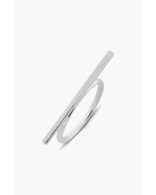 Bony Levy - Metallic 14kt Bar Ring (limited Edition) (nordstrom Exclusive) - Lyst