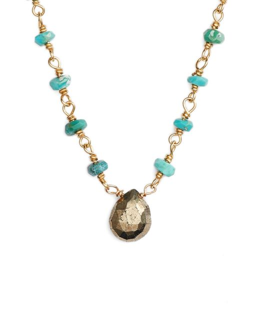 Ela Rae - Metallic Beaded Collar Necklace - Lyst