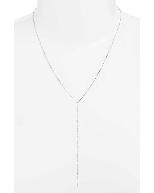 Argento Vivo - Metallic Mirror Bar Station Y-necklace - Lyst