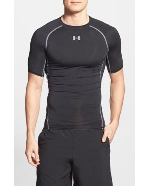 Under Armour - Black Heatgear Compression Fit T-shirt for Men - Lyst