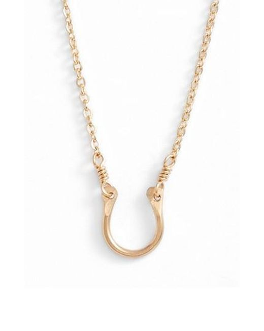 Nashelle | Metallic Horseshoe Pendant Necklace | Lyst