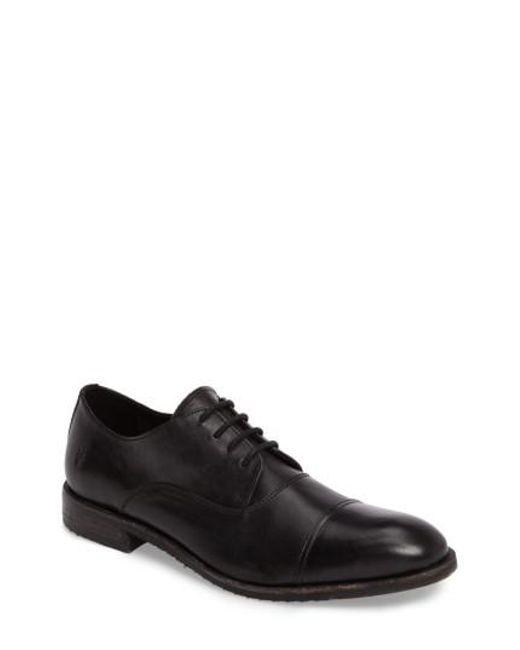 Frye | Black Sam Cap-toe Oxford for Men | Lyst