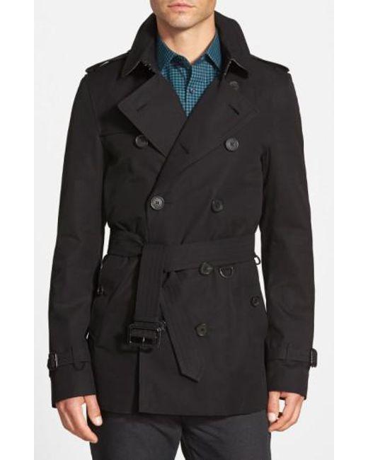 Burberry   Black Sandringham'Short Double-Breasted Trench Coat for Men   Lyst