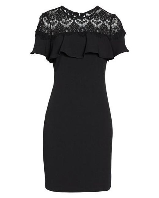 Julia Jordan - Black Lace Ruffle Sheath Dress - Lyst