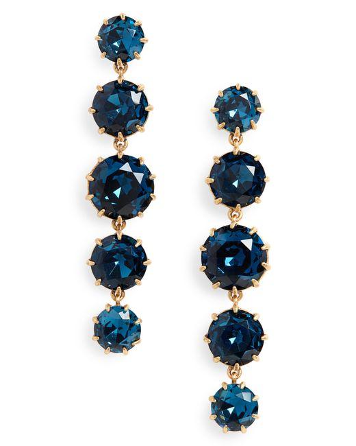 J.Crew - Blue Crystal Drop Earrings - Lyst