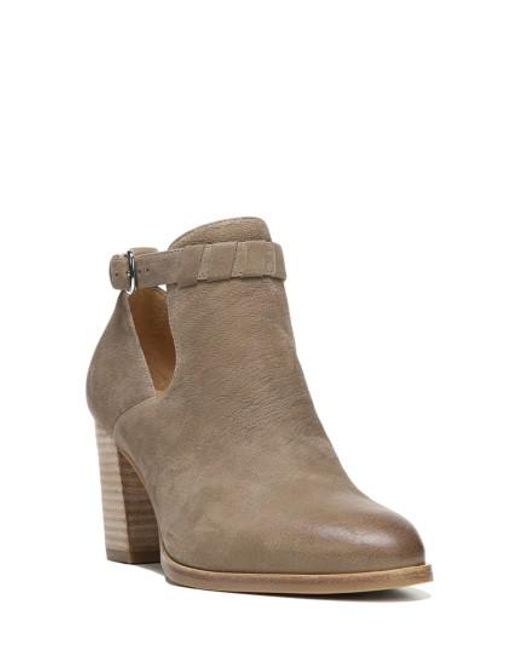 Via Spiga | Brown Samantha Block Heel Bootie | Lyst
