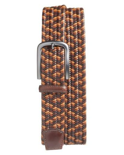 Torino Leather Company | Brown Woven Belt | Lyst