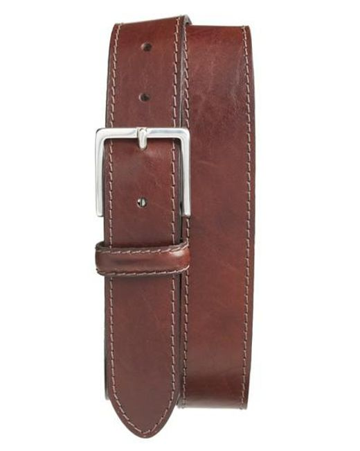 Bosca | Brown The Franco Leather Belt for Men | Lyst