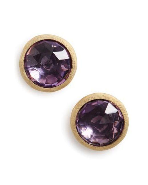 Marco Bicego | Metallic 'jaipur' Stone Stud Earrings | Lyst