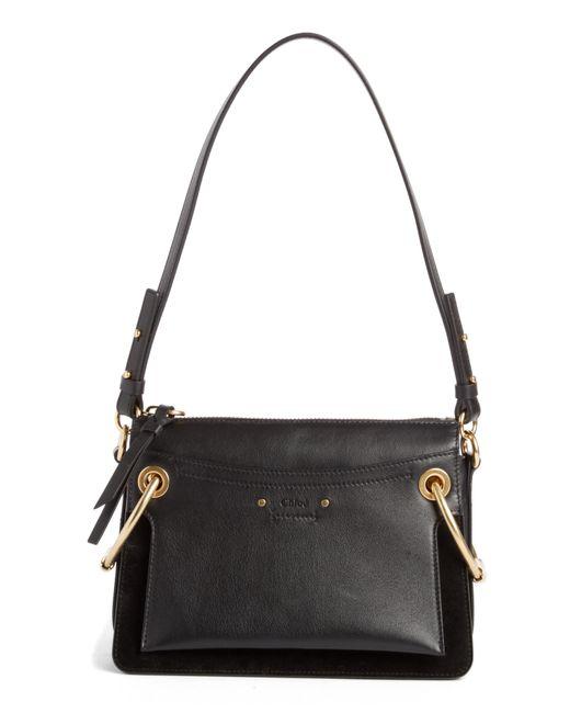 Chloé - Black Small Roy Leather Shoulder Bag - Lyst