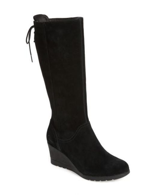 Ugg - Black Ugg Dawna Water Resistant Wedge Boot - Lyst
