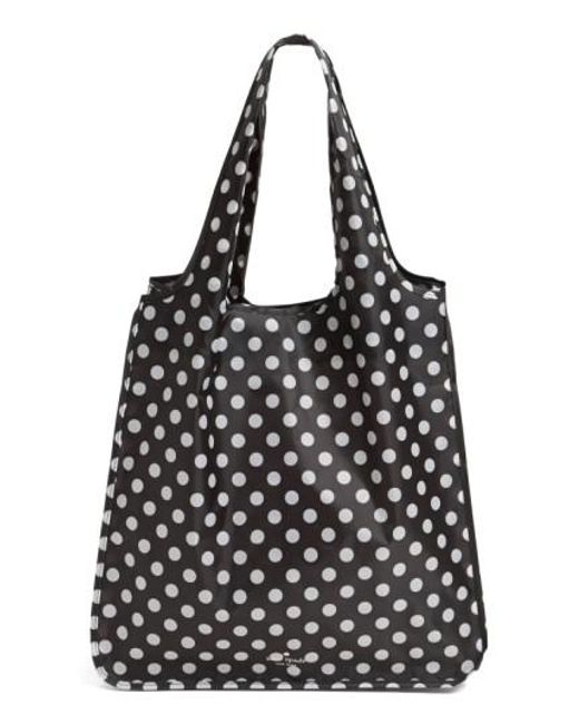 Lyst kate spade polka dot reusable shopping tote in black kate spade black polka dot reusable shopping tote lyst junglespirit Image collections