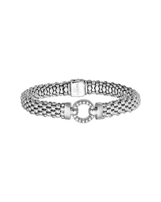Lagos - Metallic 'enso - Circle Game' Diamond Caviar Rope Bracelet - Lyst