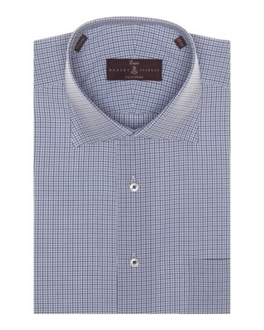 Lyst robert talbott tailored fit check dress shirt in for Nordstrom custom dress shirts
