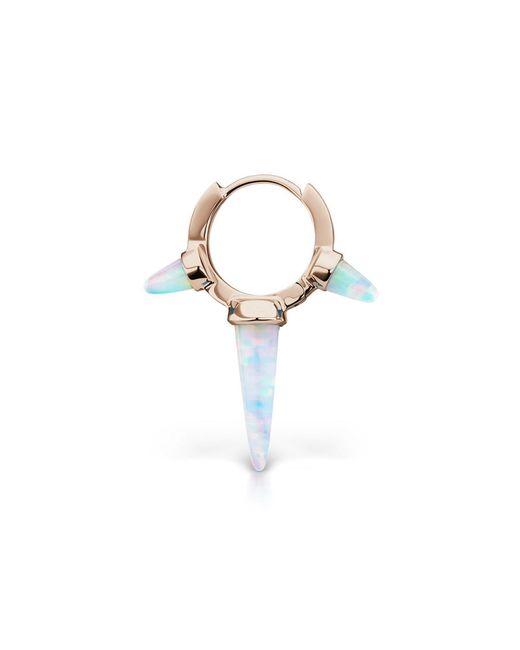 Maria Tash - White Long Triple Spike Earring - Lyst