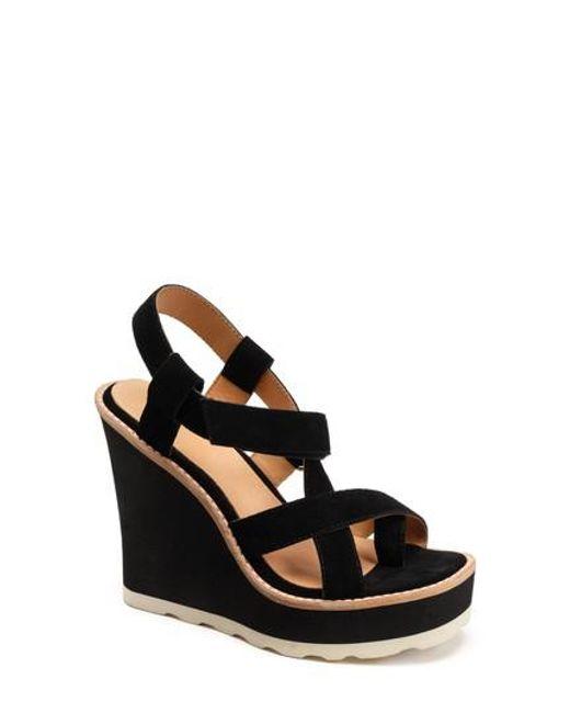 Bill Blass Women's Rae Strappy Wedge Sandal U3MB4feU