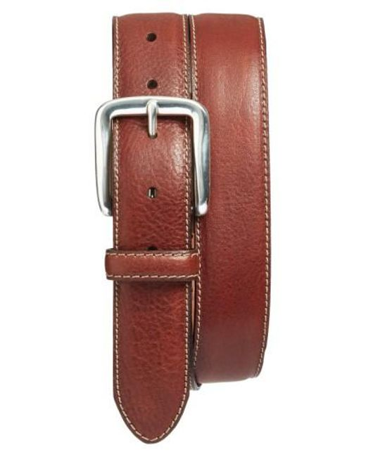 Bosca - Brown Washed Leather Belt - Lyst