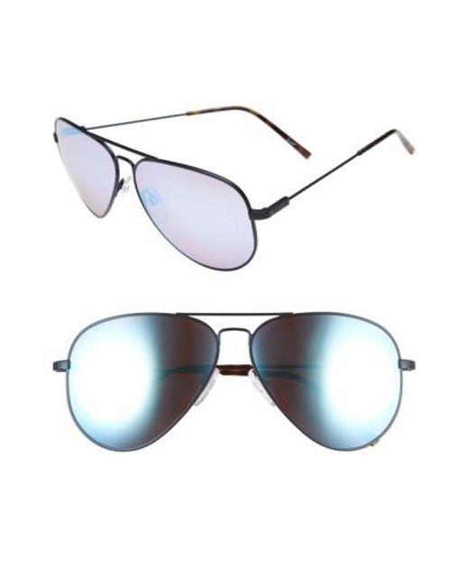 Electric - Metallic 'av1 Xl' 62mm Aviator Sunglasses - Midnight/ Rose Sky Blue Chrome - Lyst