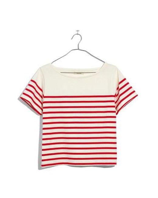 Madewell - Red Setlist Boxy Stripe Tee - Lyst