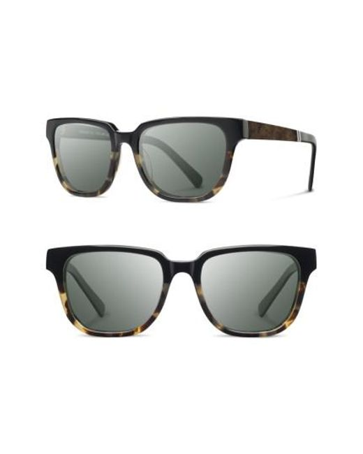Shwood | Gray 'prescott' 52mm Acetate & Wood Sunglasses | Lyst