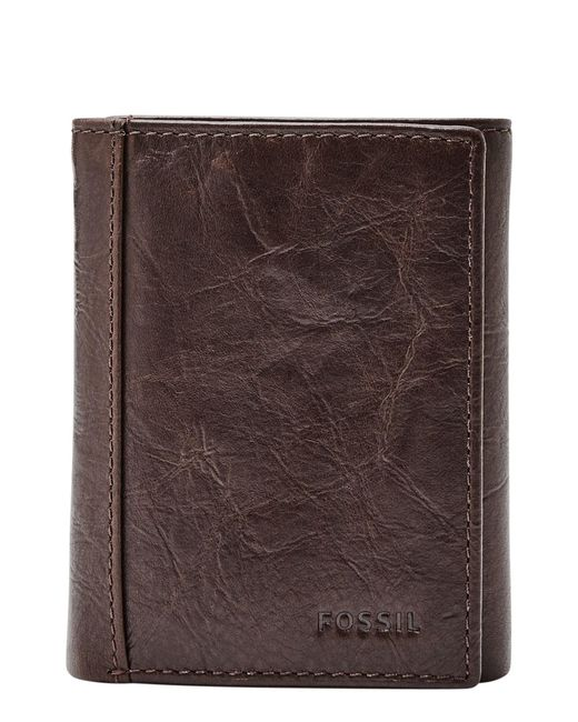 Fossil - Brown Neel Leather Wallet for Men - Lyst