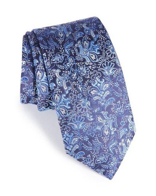 Eton of Sweden   Blue Paisley Silk Tie for Men   Lyst