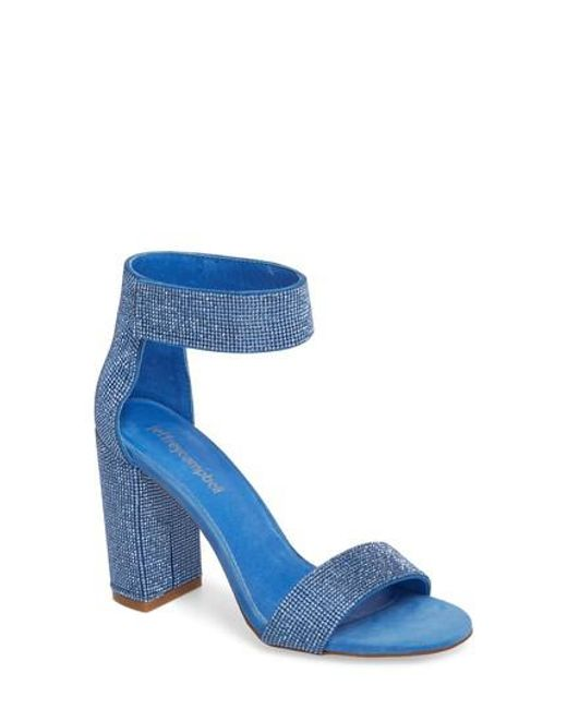 4157f5a3a80 Lyst - Jeffrey Campbell Lindsay-js Sandal Blue Combo in Blue - Save 63%
