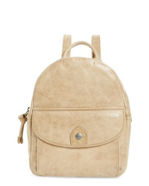 Frye - Natural Melissa Mini Leather Backpack - Lyst