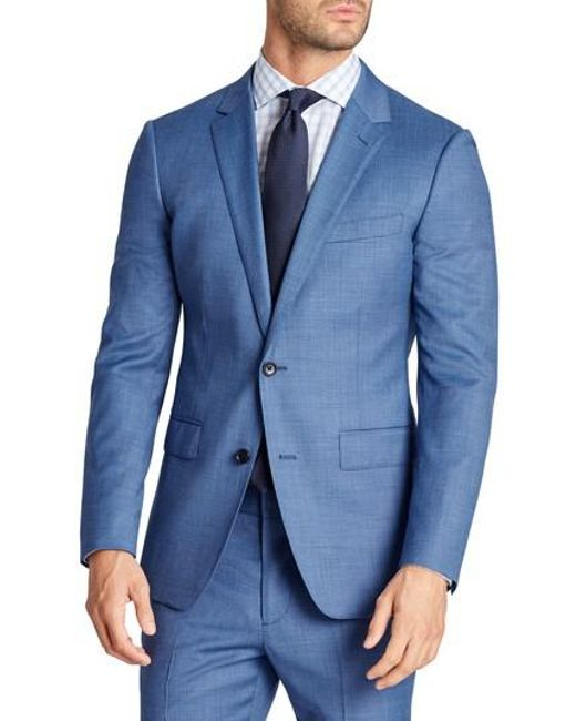Bonobos | Blue Jetsetter Trim Fit Stretch Solid Wool Suit Jacket for Men | Lyst