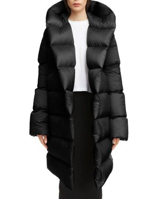 Rick Owens - Black Down Fill Puffer Coat - Lyst