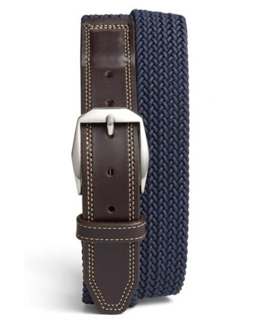 Martin Dingman - Blue 'beck' Stretch Belt for Men - Lyst