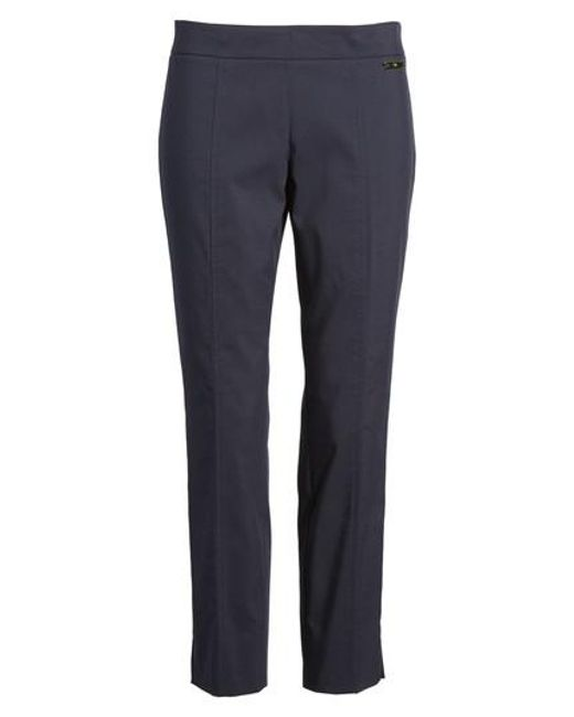 Tory Burch | Blue 'callie' Seamed Crop Pants | Lyst