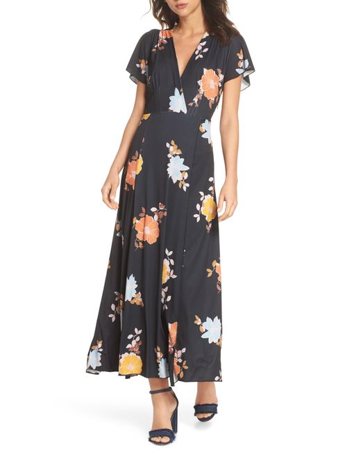 French Connection - Multicolor Shikoku Jersey Maxi Dress - Lyst